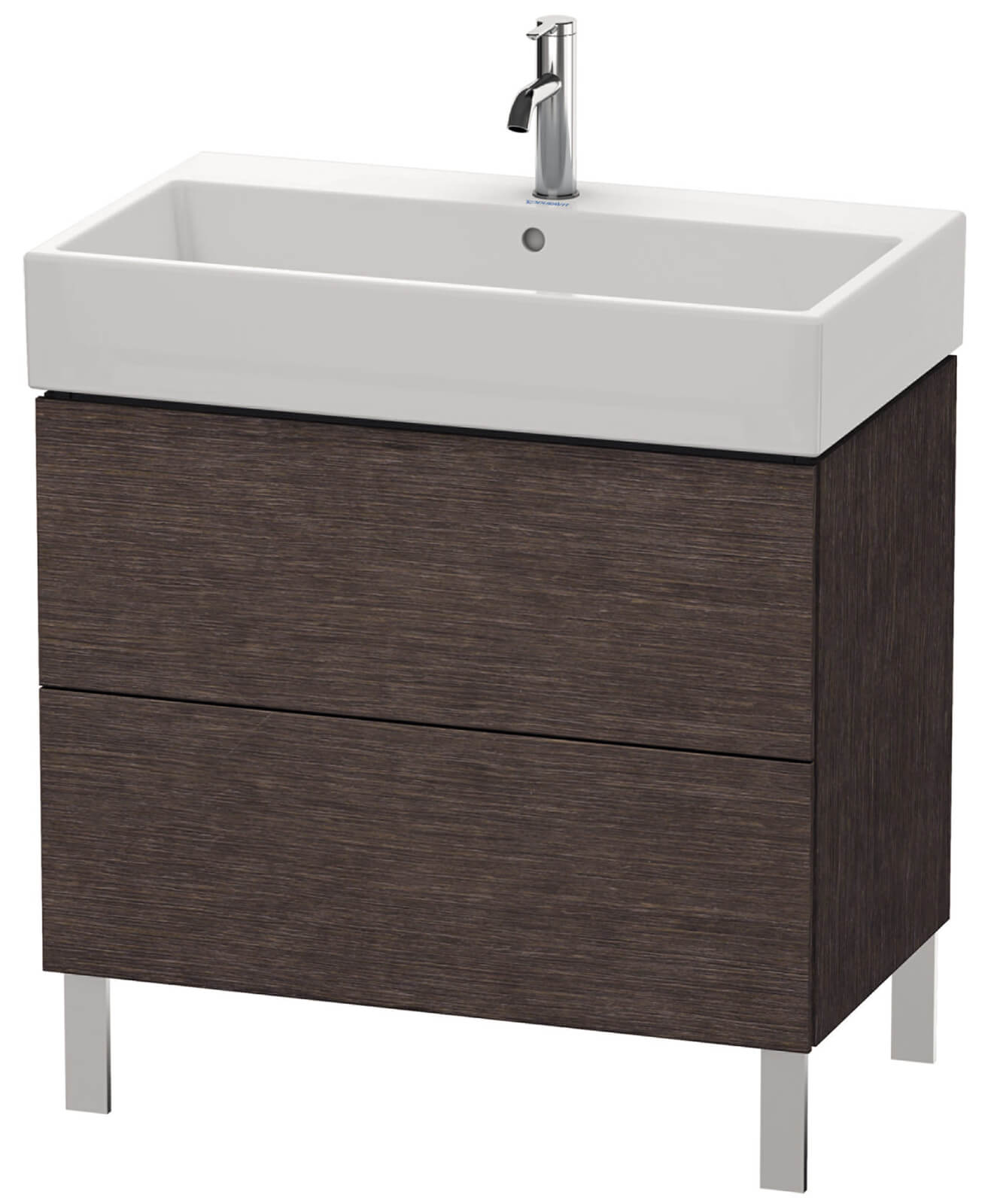 duravit l cube 784mm floor standing vanity unit with vero. Black Bedroom Furniture Sets. Home Design Ideas
