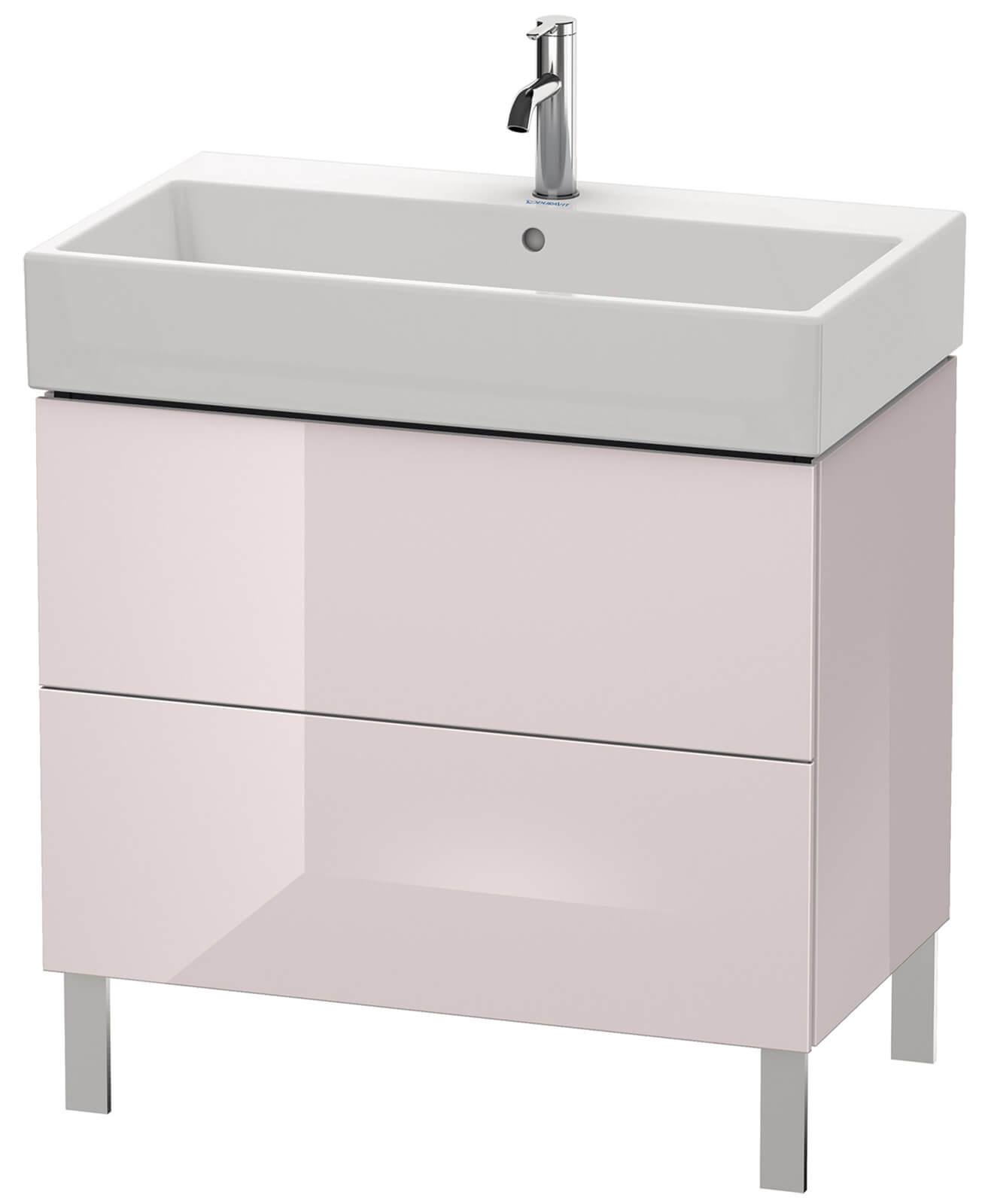 duravit l cube 784mm floor standing vanity unit with vero air basin. Black Bedroom Furniture Sets. Home Design Ideas