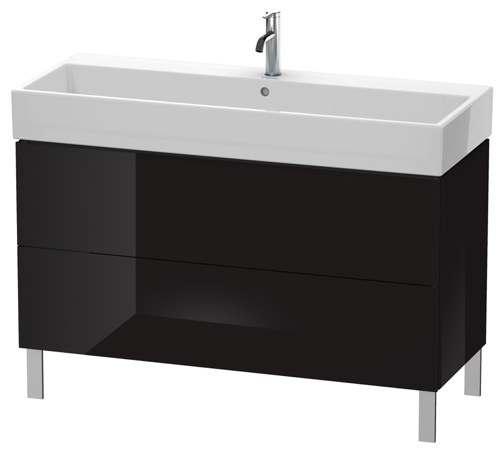 duravit l cube 1184mm floor standing vanity unit with vero air basin. Black Bedroom Furniture Sets. Home Design Ideas