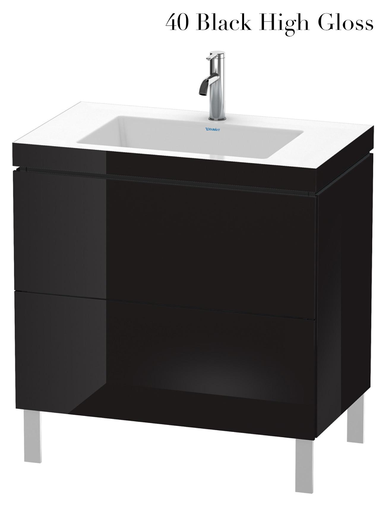 duravit l cube 800mm floor standing vanity unit with c bonded basin. Black Bedroom Furniture Sets. Home Design Ideas
