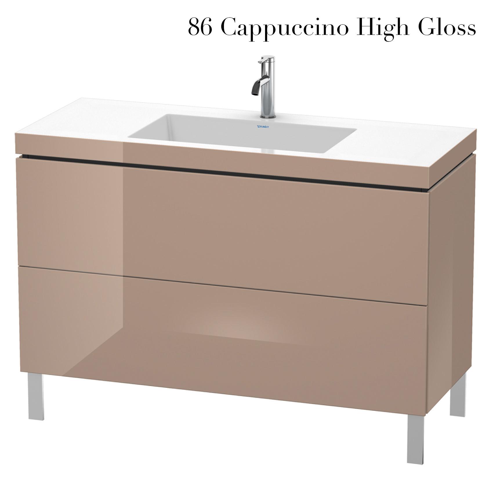 duravit l cube 1200mm floor standing vanity unit with c bonded basin. Black Bedroom Furniture Sets. Home Design Ideas