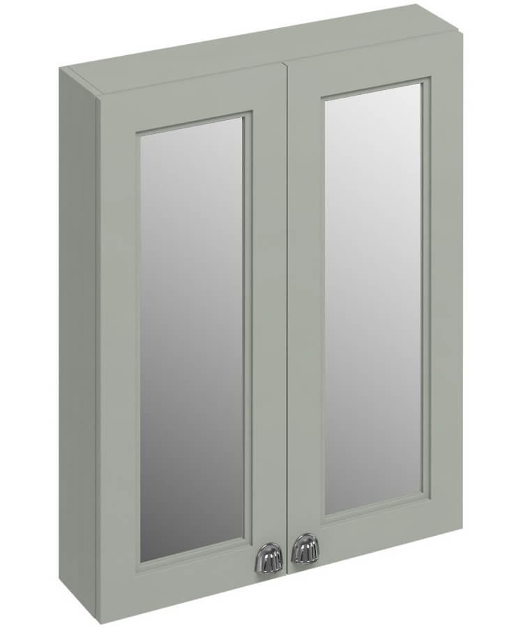 Burlington 600mm Double Door Mirror Cabinet Matt White F6mw