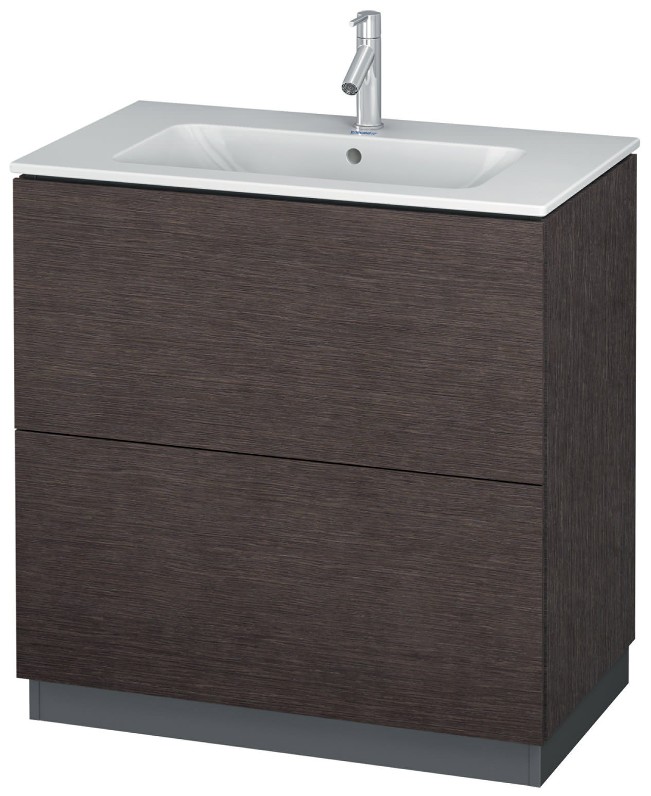 duravit l cube 820mm vanity unit with me by starck basin. Black Bedroom Furniture Sets. Home Design Ideas