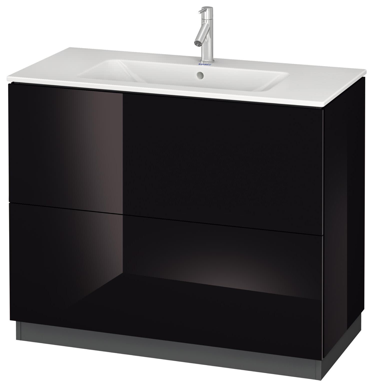 duravit l cube 1020mm vanity unit with me by starck basin. Black Bedroom Furniture Sets. Home Design Ideas