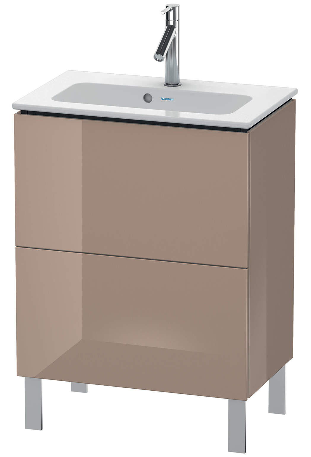 duravit l cube 620mm floor standing compact vanity unit with me by starck basin. Black Bedroom Furniture Sets. Home Design Ideas