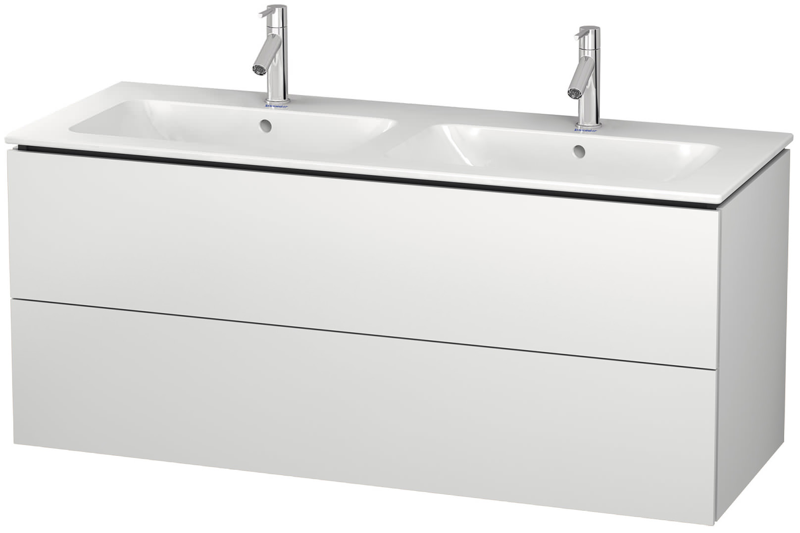 duravit l cube 1290mm 2 drawers vanity unit with me by. Black Bedroom Furniture Sets. Home Design Ideas