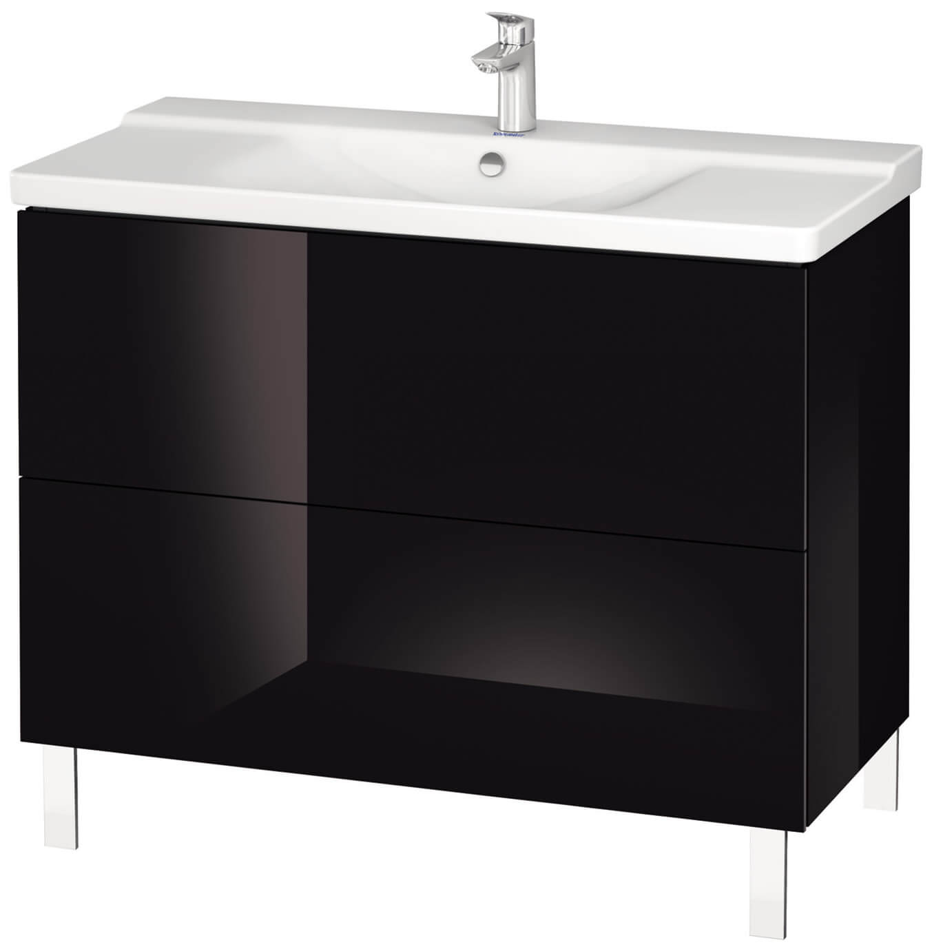 duravit l cube 1020mm floor standing vanity unit. Black Bedroom Furniture Sets. Home Design Ideas