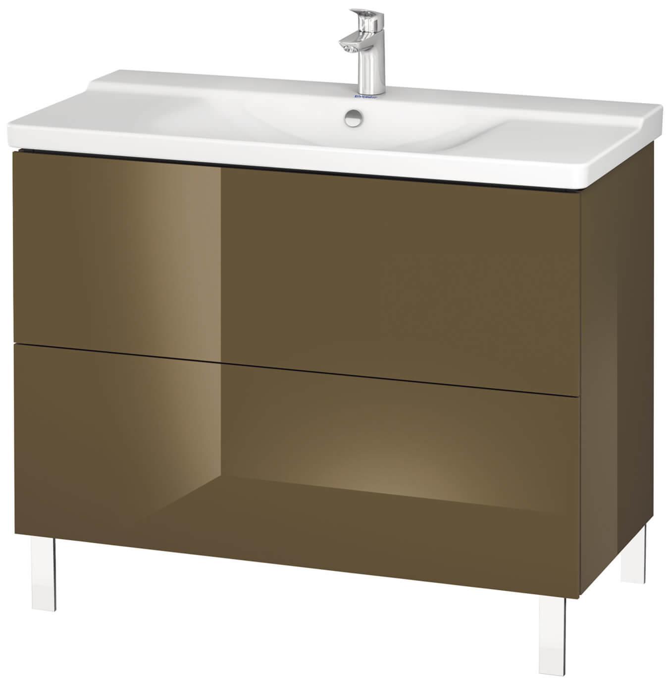 duravit l cube 1020mm floor standing vanity unit. Black Bedroom Furniture Sets. Home Design Ideas
