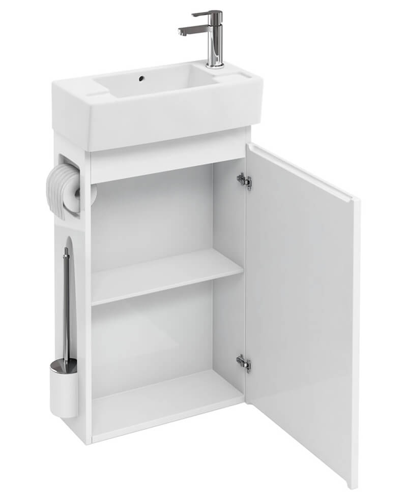 Britton All In One Floor Standing Unit With Brush And Paper Holder ...