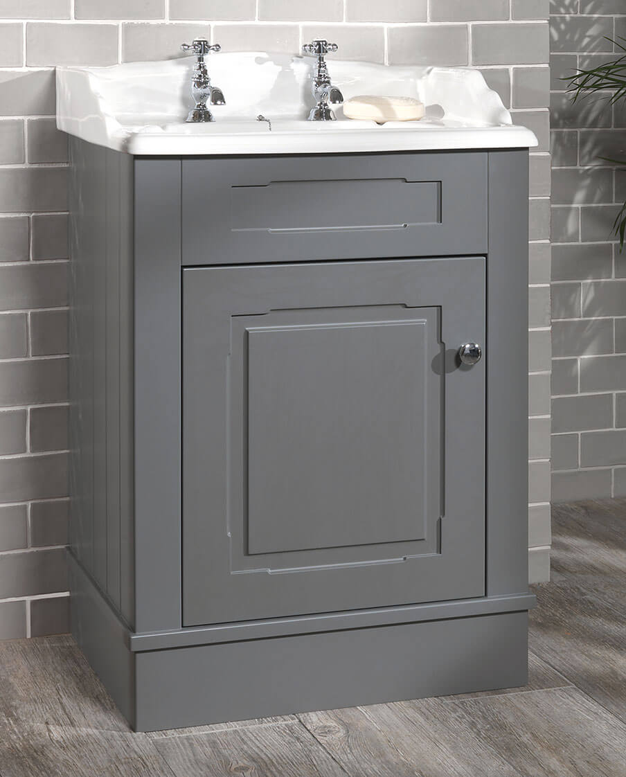 Silverdale Victorian 635mm Grey Unit And 2 Tap Holes Basin ...