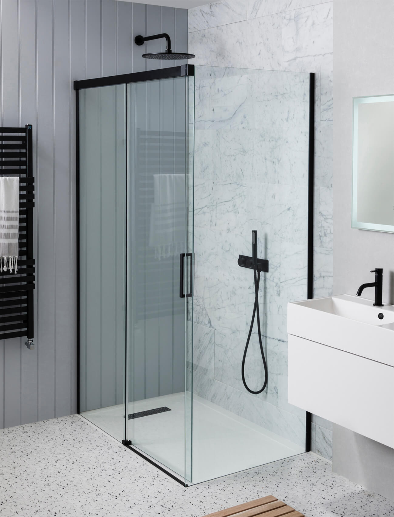 1400Mm Shower Bath simpsons mpro single slider shower door 1200mm - prsbc1200