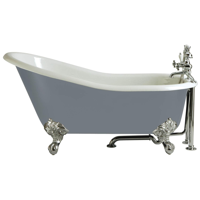 Heritage Kent Slipper Cast Iron Freestanding Bath With Feet