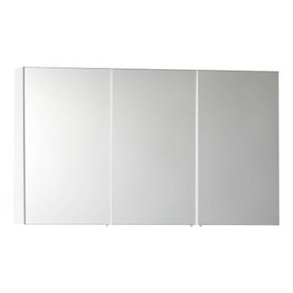 vitra s50 classic 1200 x 700mm 3 door mirror cabinet white high