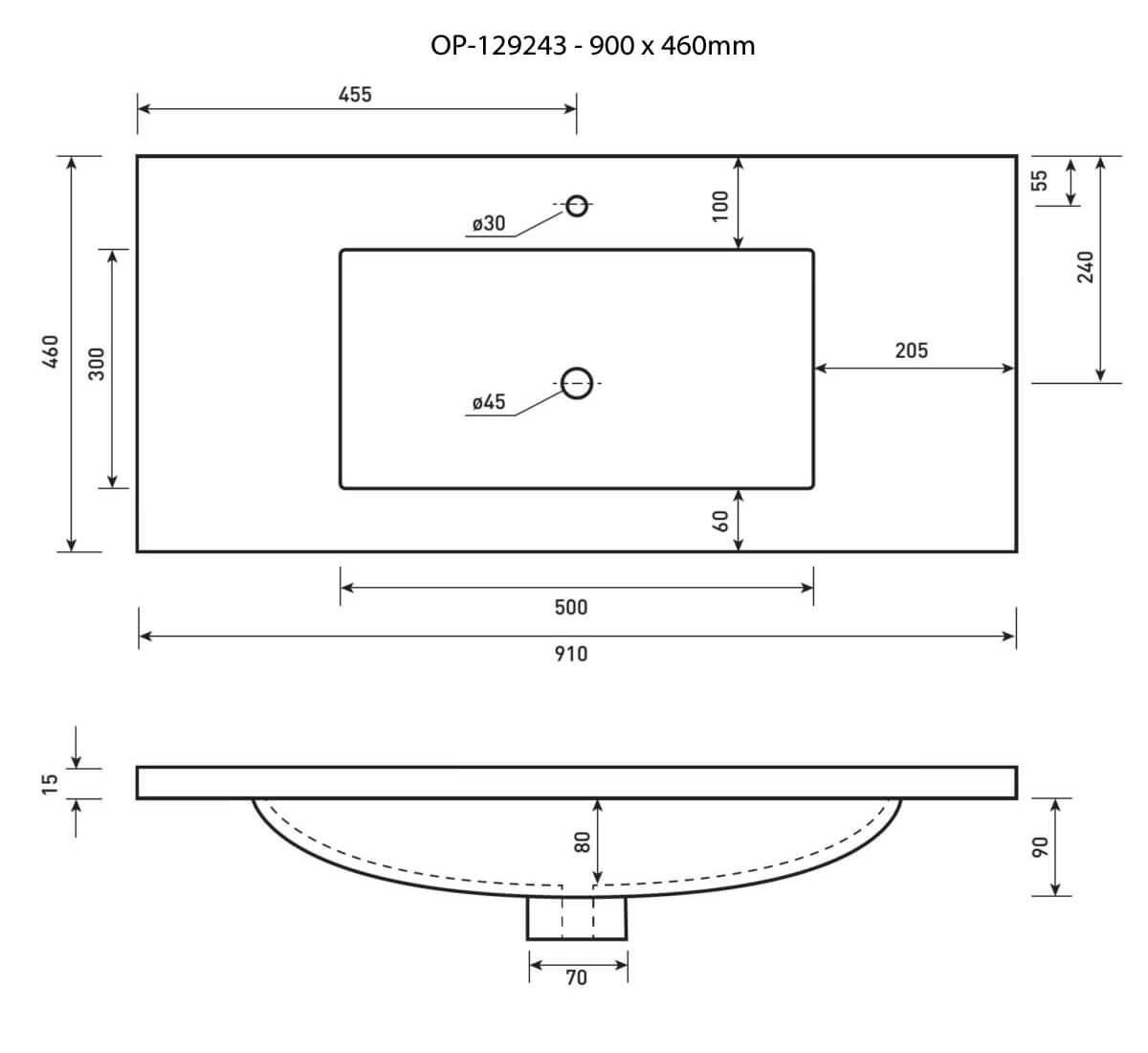 Phoenix Cleaver 420 X 420mm Ceramic Inset Basin Vb045