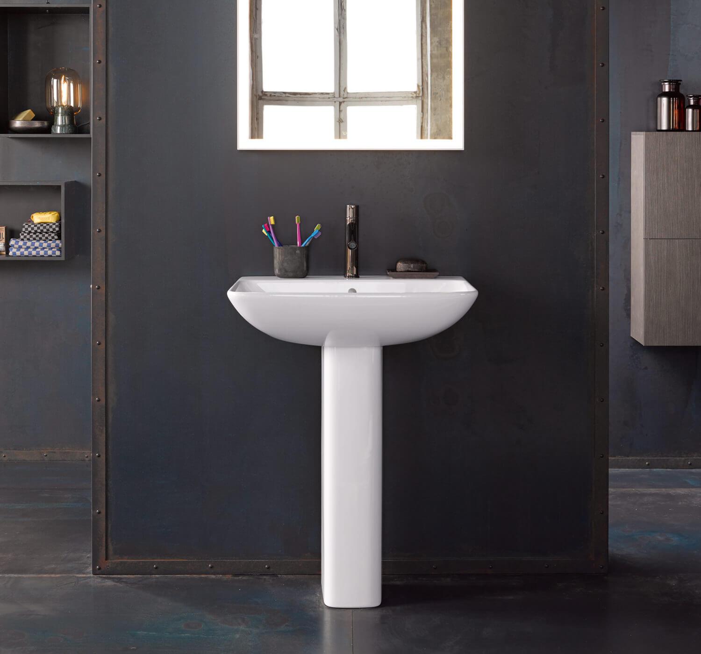 duravit me by starck 550mm 1 taphole washbasin 600mm and. Black Bedroom Furniture Sets. Home Design Ideas