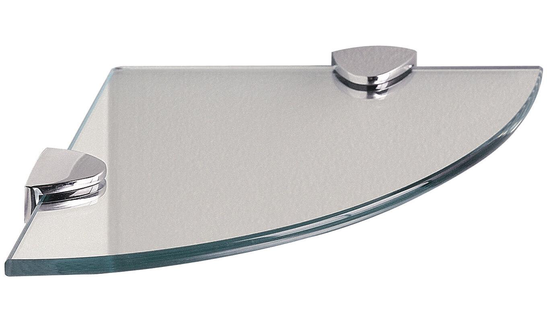 Miller classic 200mm clear glass corner shelf