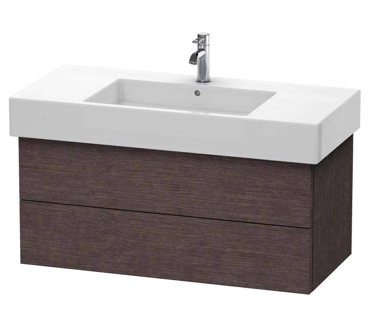 Pine Bathroom Vanity Unit: Duravit Delos 1000 X 470mm 2 Drawer Vanity Unit With Basin