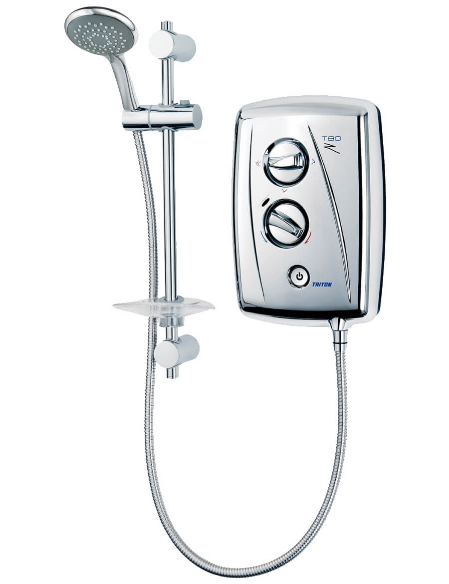 Triton T80z Fast Fit White And Chrome Electric Shower 85kw Sp8008zff Wiring Zones Bathroom Additional Image Of