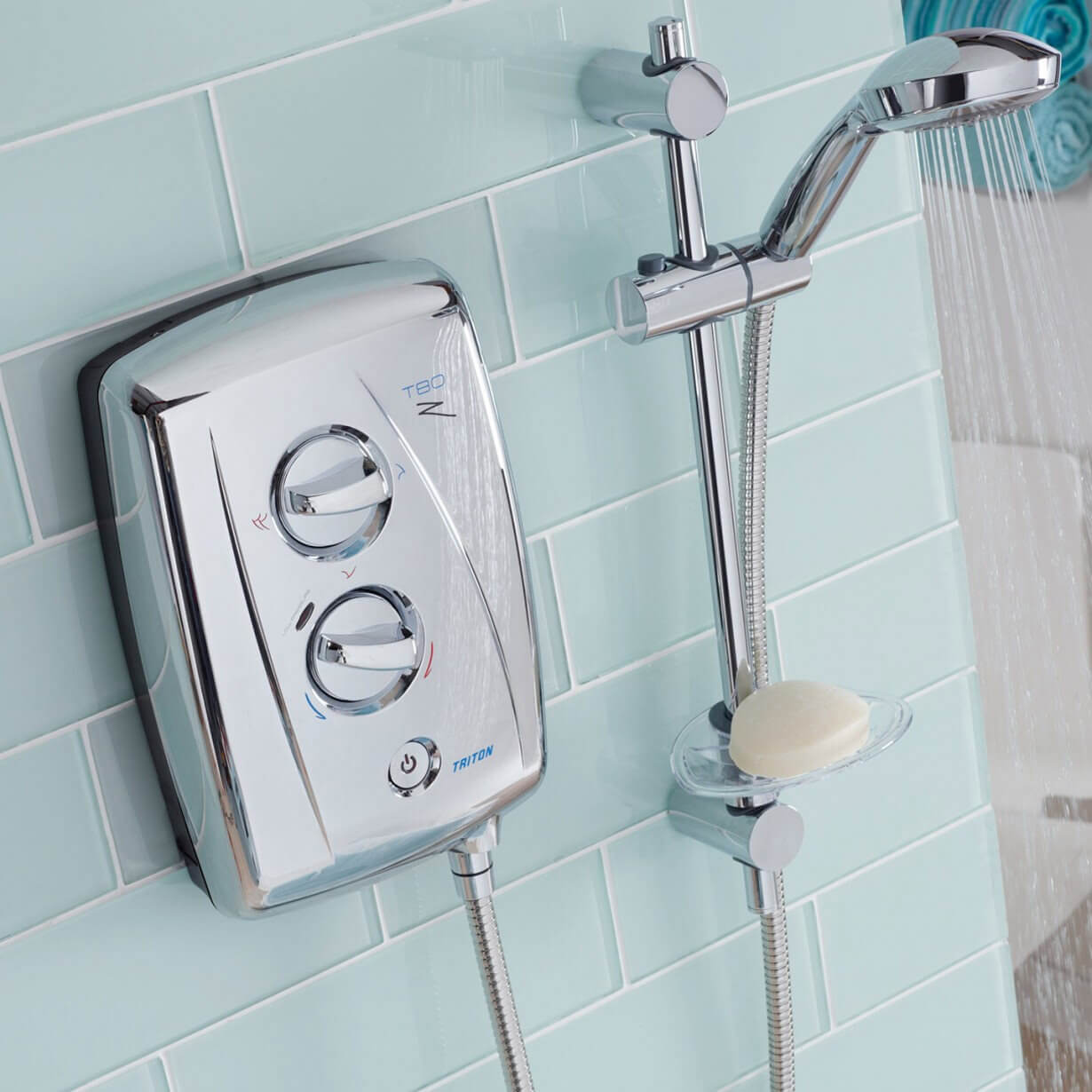 Triton T80z Fast Fit White And Chrome Electric Shower 85kw Sp8008zff Wiring Zones Bathroom Alternate Image Of