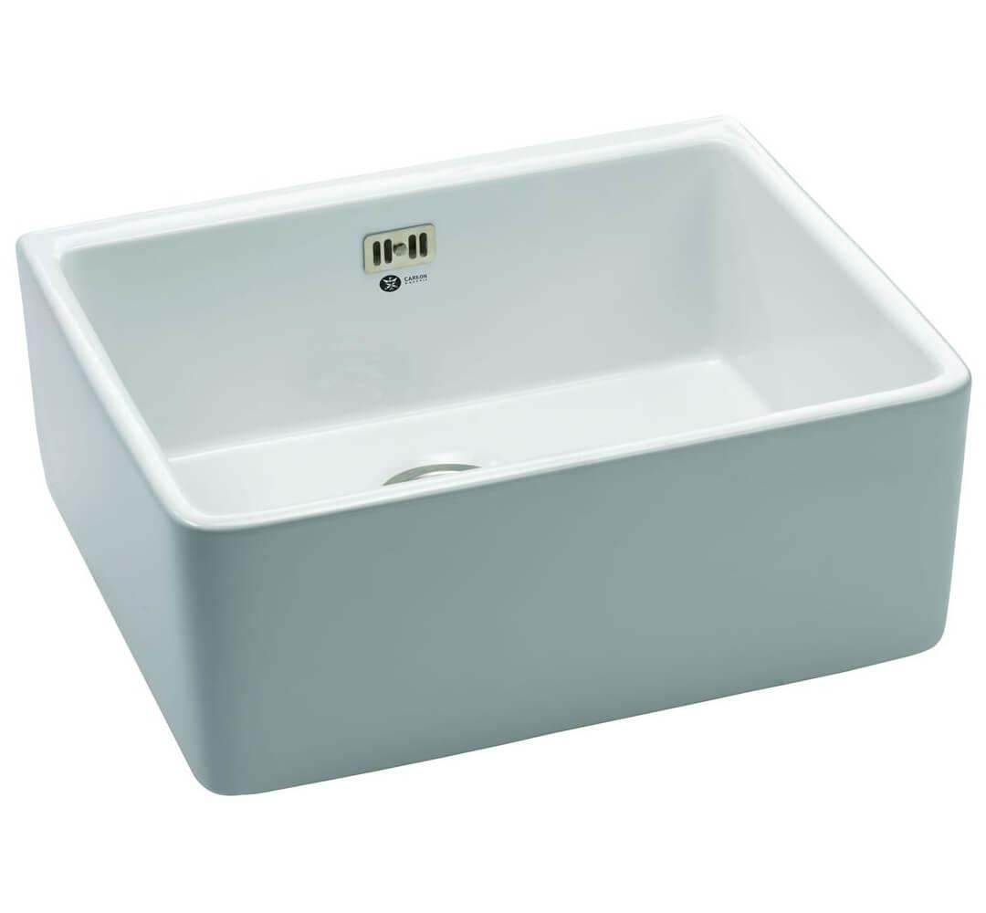 Carron Phoenix Belfast 100 White 1.0 Bowl Sit On Kitchen Sink ...