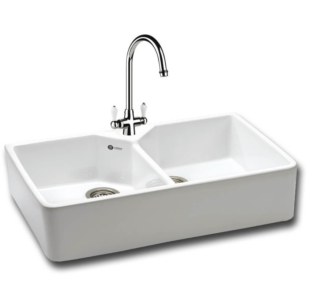 Carron Phoenix Belfast 200 White 2.0 Bowl Sit On Kitchen Sink ...