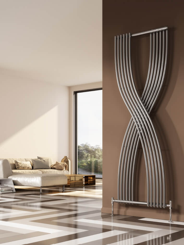 Designer Living Room Radiators: Reina Dimaro 620 X 1760mm Steel Designer Vertical Radiator