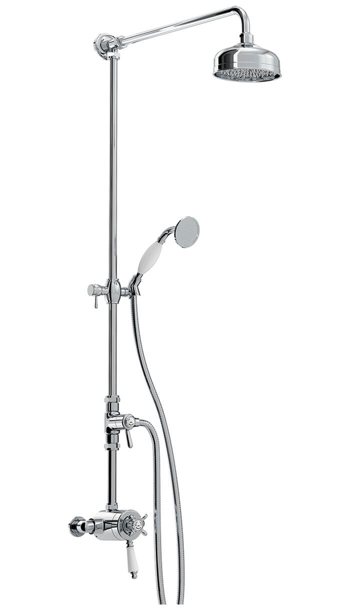 Bristan 1901 Thermostatic Exposed Dual Control Shower Valve With Diverter