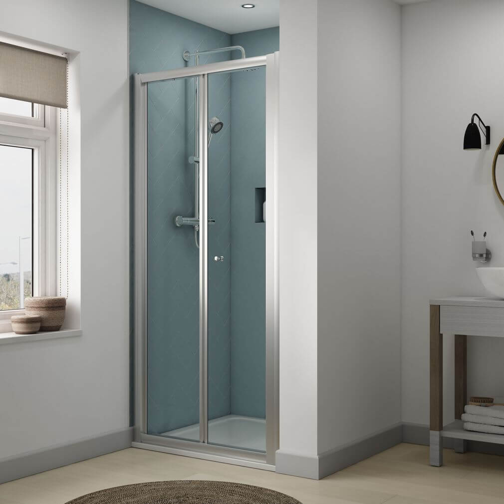 Aqualux Origin 760mm Bi Fold Shower Door 1192601