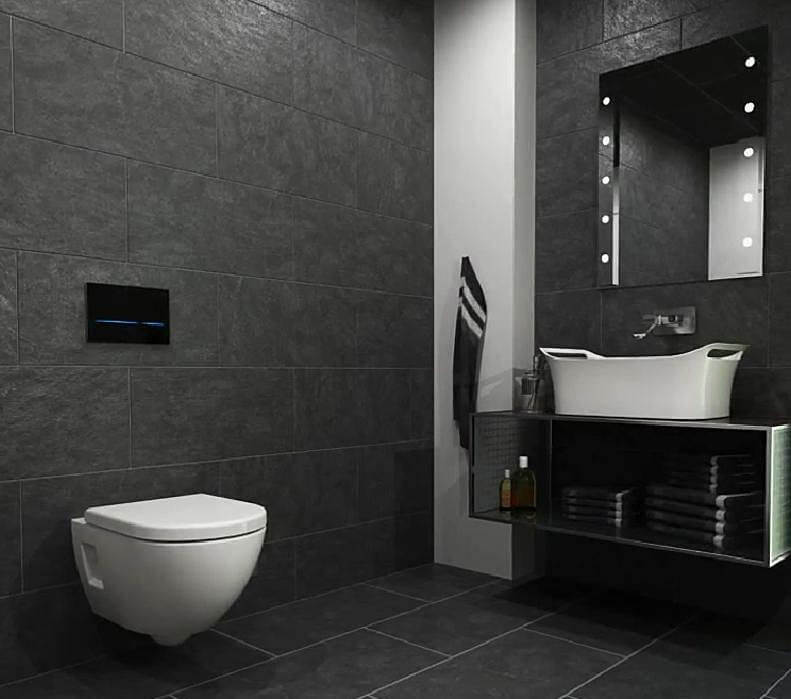 Geberit Sigma80 Touchless Mains Operated Dual Flush Plate
