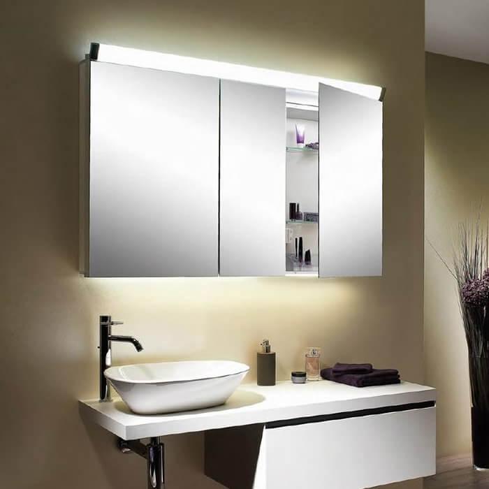 Schneider Paliline 3 Door Mirror Cabinet With LED Light ...