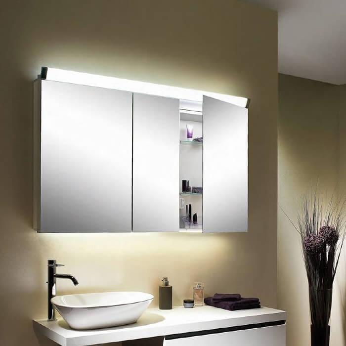 Schneider Paliline 3 Door 100cm Mirror Cabinet With LED ...