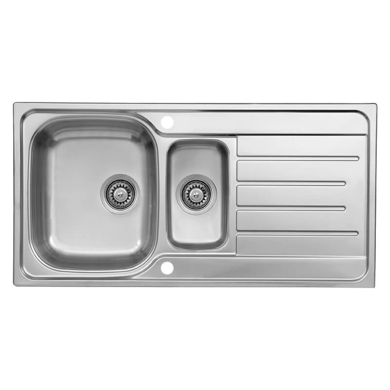Reginox Le Mans 1 5 Bowl 980 X 500mm Stainless Steel Reversible Inset Sink Lemans 1 5 Sv