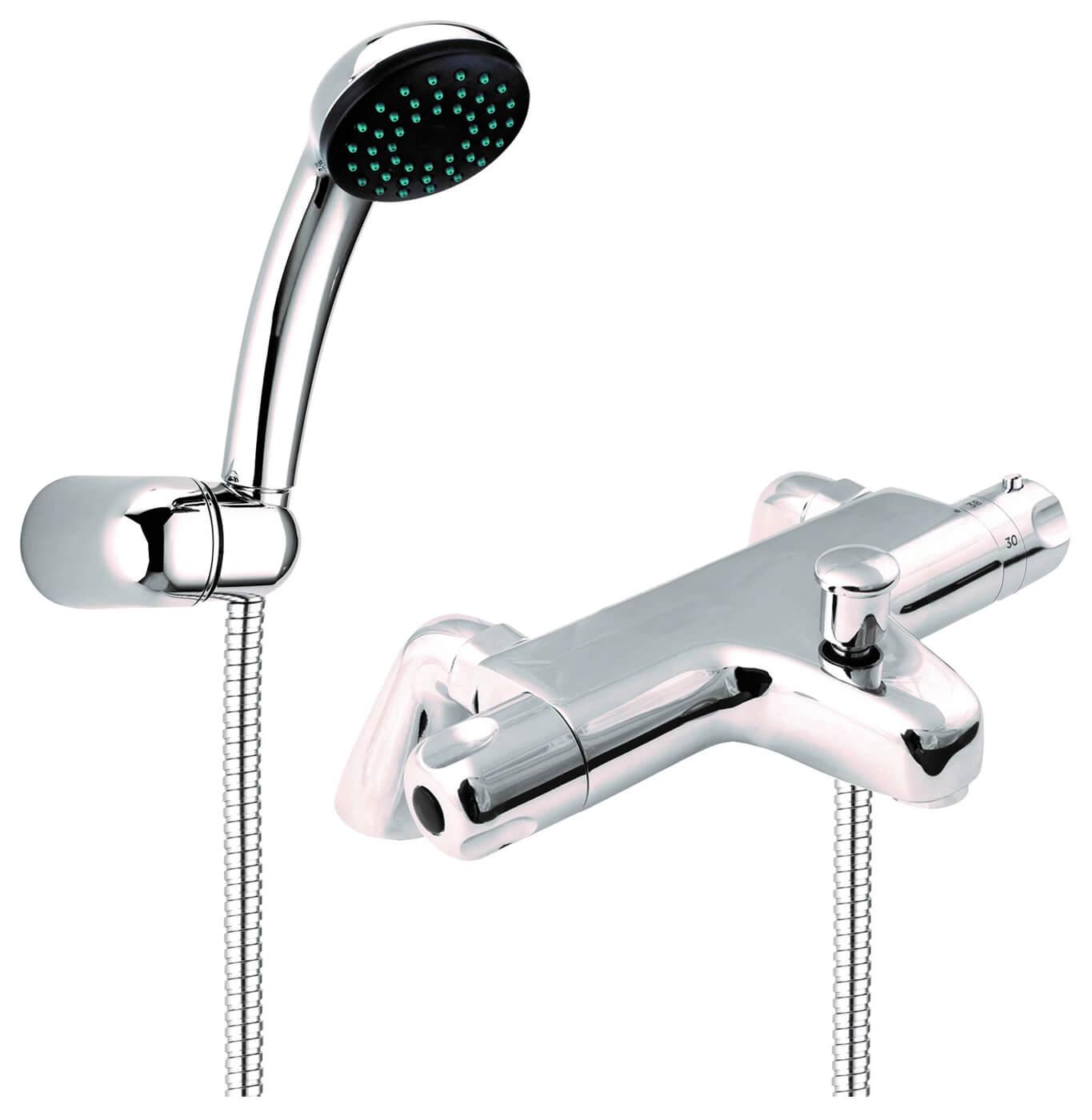 Deva Dynamic Pillar Mounted Thermostatic Bath Shower Mixer