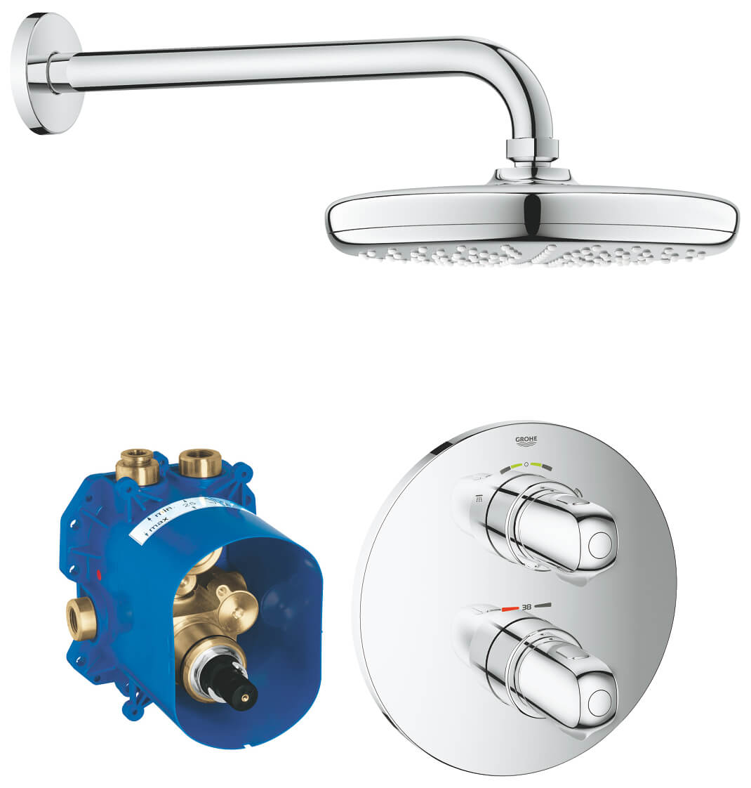 Grohe Grohtherm 2000 Perfect Shower Set.Grohe Grohtherm 1000 Perfect Shower Set 34582001