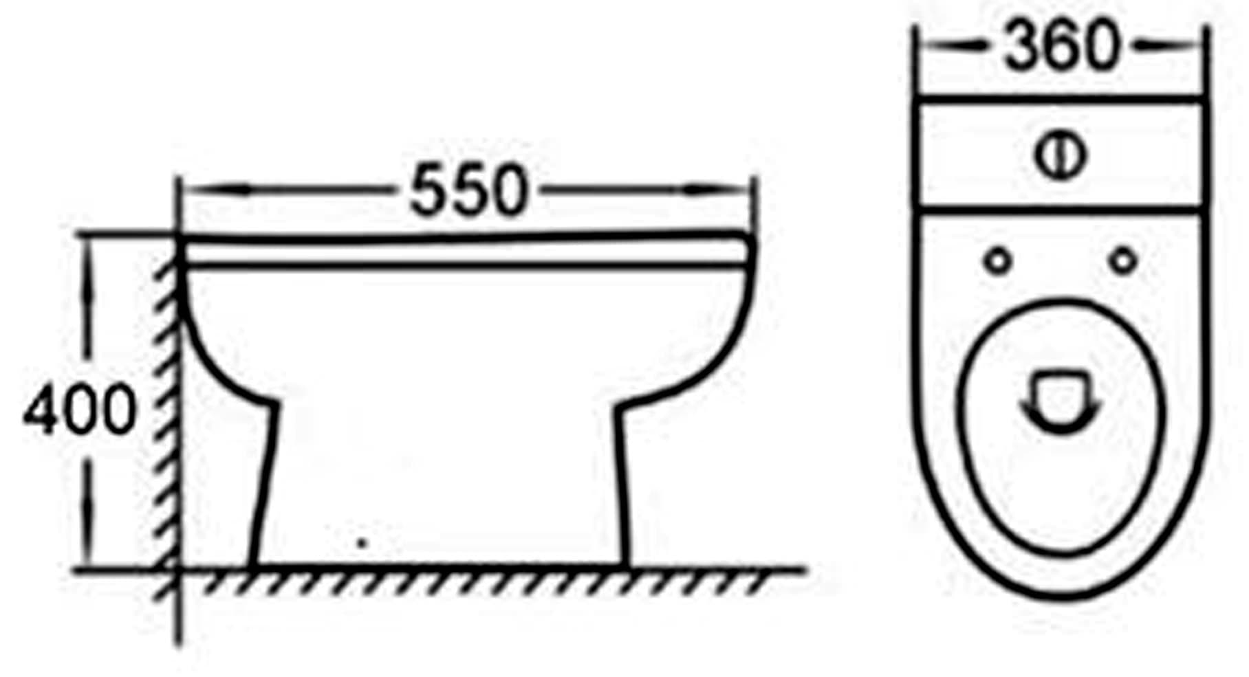 Premier Ivo Back to Wall Toilet Pan 550mm Projection Soft Close Seat