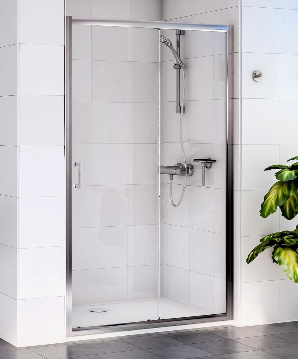 Aqualux Shine Sliding Shower Door 1200mm Polished Silver Fen0903aqu