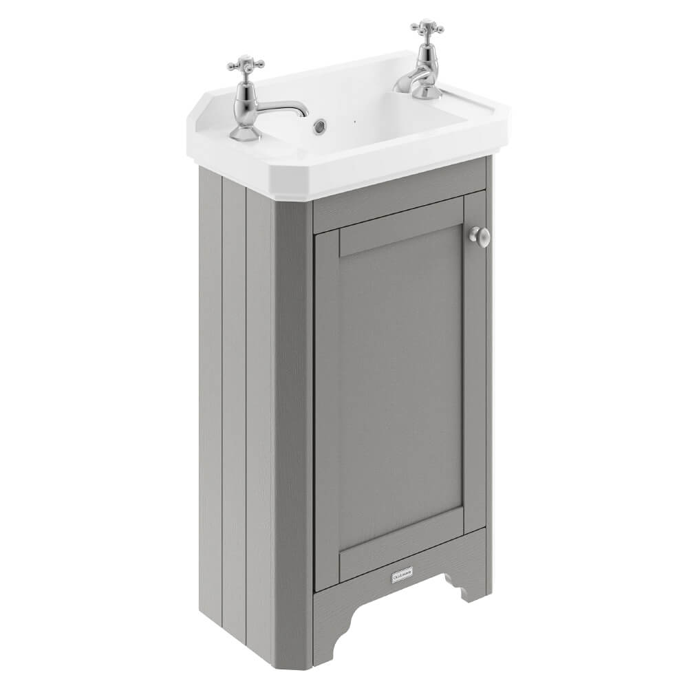 Old London 515mm Floor Standing Vanity Unit With 2 Taphole Basin Lof469