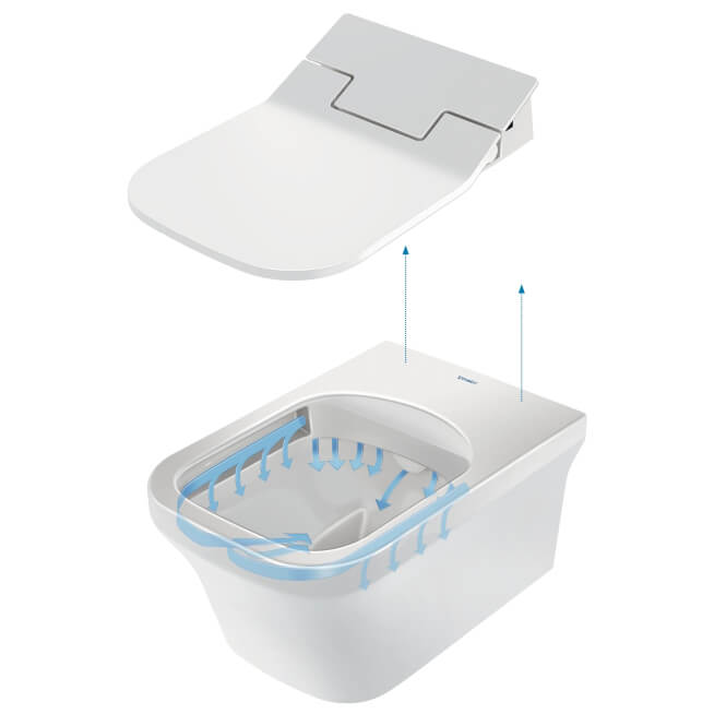Duravit Sensowash Slim Seat With Vero Air Wall Mounted