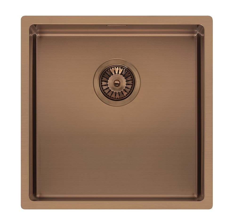 Sensational Reginox Miami 440 X 440Mm Single Bowl Kitchen Sink Copper Interior Design Ideas Apansoteloinfo
