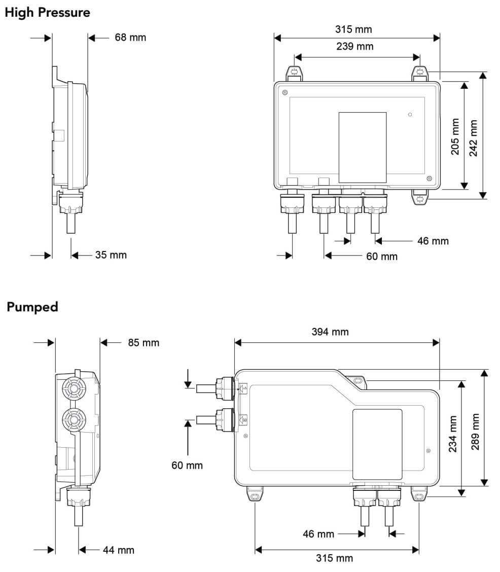 Mira Mode Digital Mixer Dual Bath Filler Shower Valve /& Controller Pumped