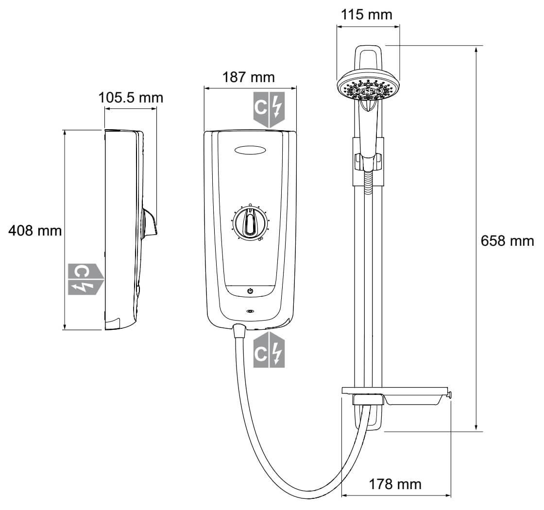 Mira Advance Flex Thermostatic Electric Shower 8.7kW 1.1785.003