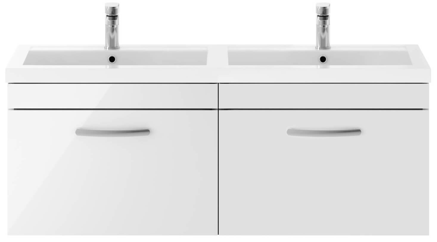 Premier 1200mm Wall Hung Cabinet /& Double Basin