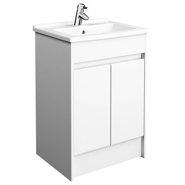 Vitra S50 600mm Floor Standing 2 Door Vanity Unit With Washbasin 52981