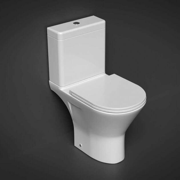 RAK Resort Maxi Close Coupled Full Access Rimless Toilet WC Pack Soft Close Seat