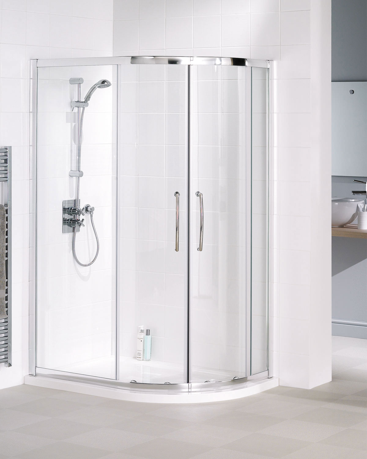 Lakes Classic Offset Quadrant Shower Enclosure 900 X 800 X