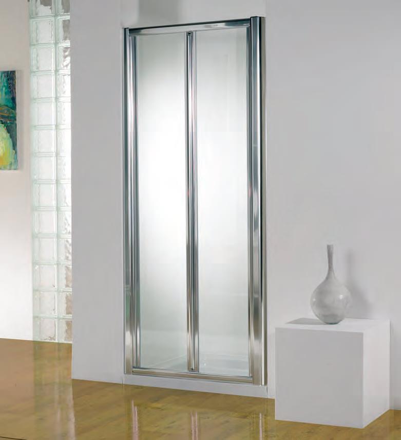 kudos original 900mm white bi fold shower door with tray