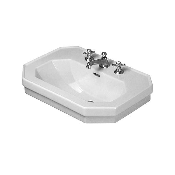 duravit 1930 series 600mm 3 tap hole washbasin 0438600030. Black Bedroom Furniture Sets. Home Design Ideas