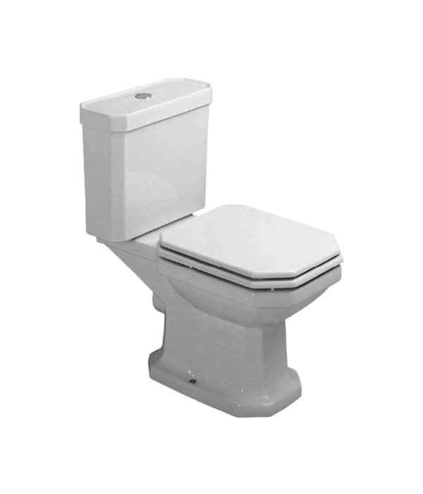 duravit 1930 series close coupled toilet with cistern 655mm 022709. Black Bedroom Furniture Sets. Home Design Ideas