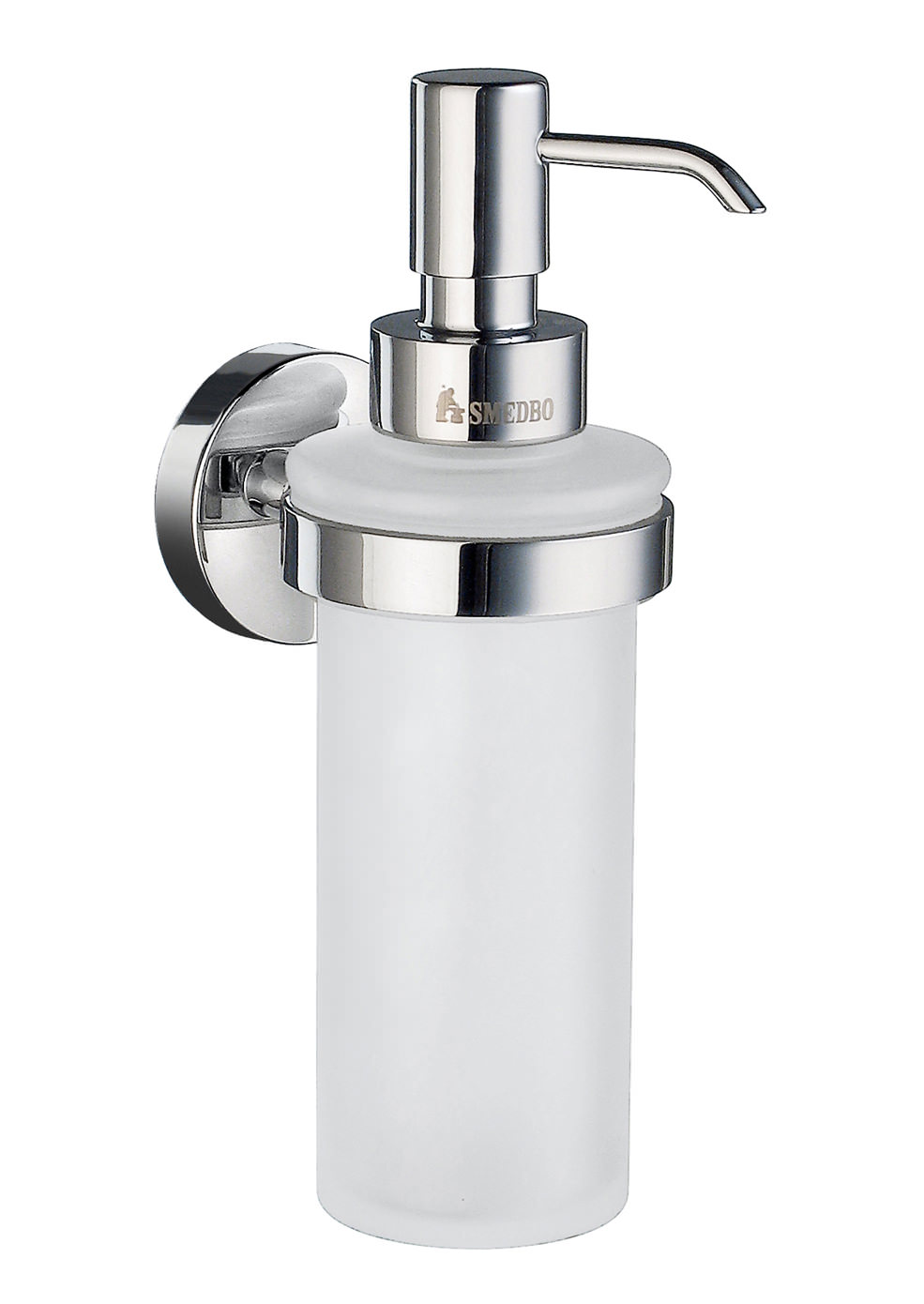 Smedbo Home Frosted Glass Soap Dispenser With Holder Hk369