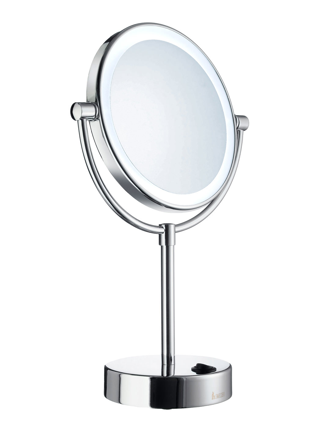 Smedbo Outline Free Standing LED Shaving And Make-Up Mirror